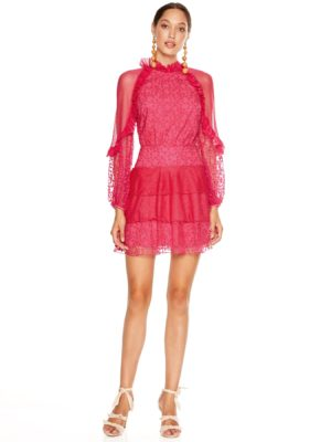 TL191029D Fuscia Delight Mini Dress 1