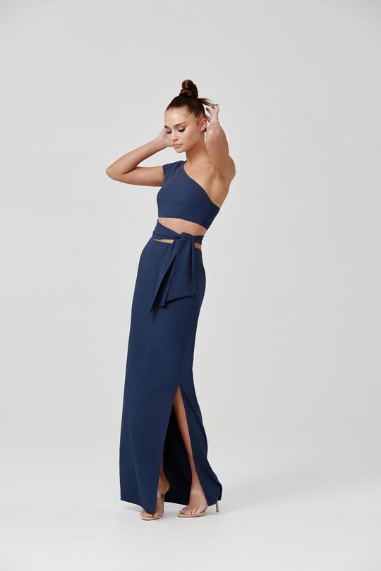 Arianna Dress Blue Front