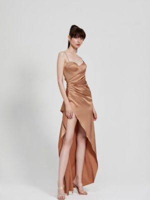 Tameka Dress Bronze Front