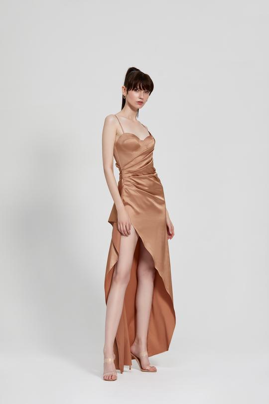 Tameka Dress Bronze Front