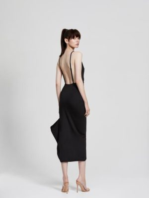 Zina Dress Black Back