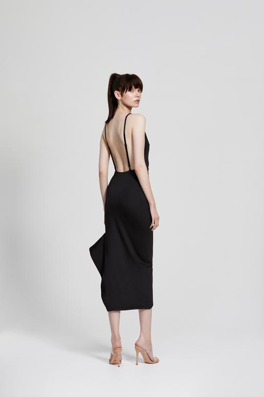 Zina Dress Black Back